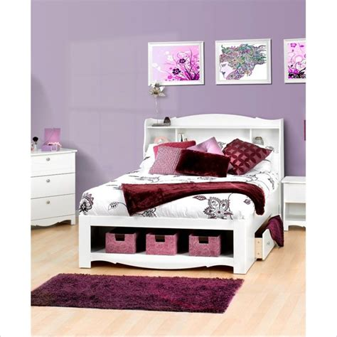 full white bedroom set nexera dixie 2 pc full white kids bedroom set ebay
