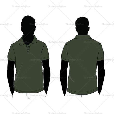 Men's Polo Shirt Silhouette Fashion Flat Template