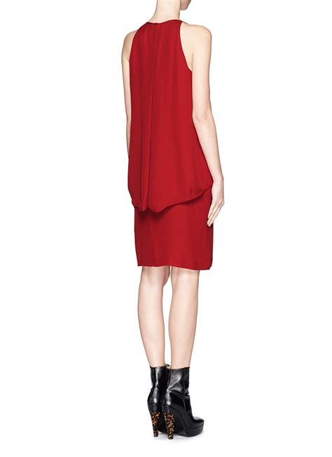 Dress Mt 02 lyst theory lyall layered tank dress in