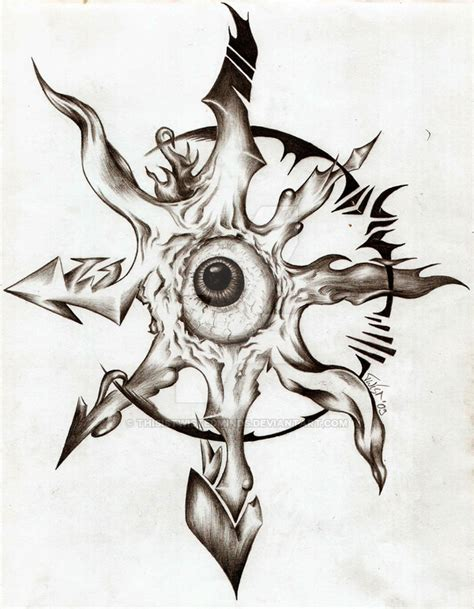 chaos star tattoo designs chaos organic by thisistwistedminds on deviantart
