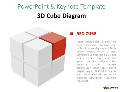 3d Cube Diagram For Powerpoint And Keynote Cube Powerpoint
