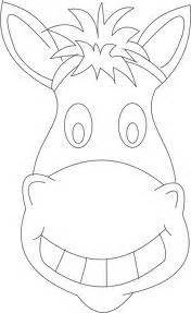 donkey mask templates including a coloring page version of