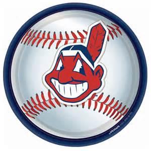 Minnie High Chair Cleveland Indians Baseball Round Dinner Plates 91661