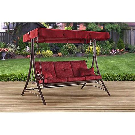 swing 3 person swing gazebo outdoor covered patio deck porch garden