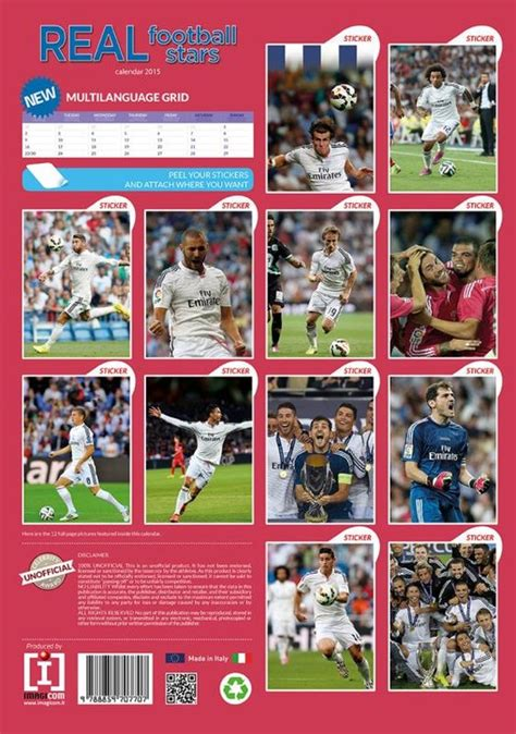 Calendario Real Madrid 2018 Calendario 2018 Real Madrid Fc Europosters It