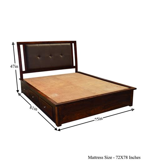 king size bed with drawers cayenne ravishing king size bed with six storage drawers by mudramark online king