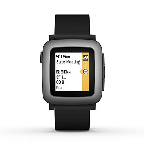 Smartwatch Pebble Time Pebble Time Smartwatch In Black Smartwatches Org