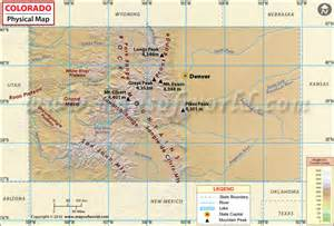colorado geography map physical map of colorado colorado physical features