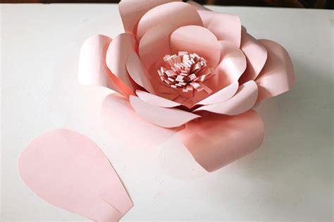 paper flower diy template paper bag paper craft decor