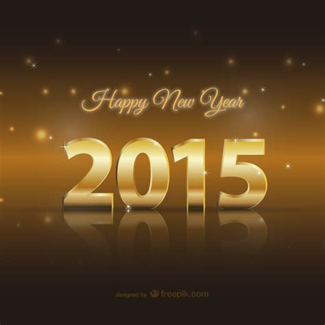 laundry new years 2015 happy 2015 golden card vector free