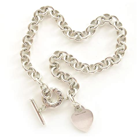 co sterling silver tag toggle necklace 36214