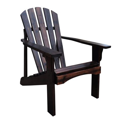 Brown Patio Chairs Shop Shine Company Rockport Burnt Brown Cedar Patio Adirondack Chair At Lowes