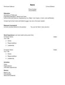 Blank Resume Template For College Students Best Photos Of Blank Cv Template Blank Resume Templates Blank Free Resume Cv Template And