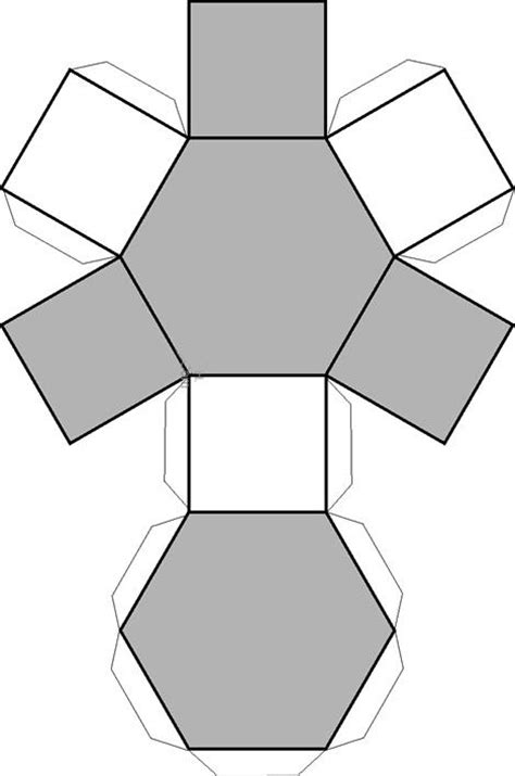 figuras geometricas rectangulo para armar dibujo recortable prisma rectangular figuras geom tricas