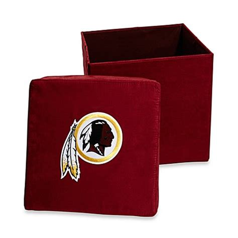 redskins bathroom washington redskins collapsible storage ottoman bed bath