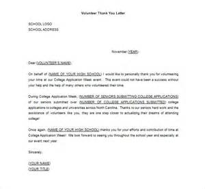 volunteer thank you letter 10 free sle exle