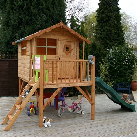 playhouse with swings winchester tulip playhouse with slide kiddicare com