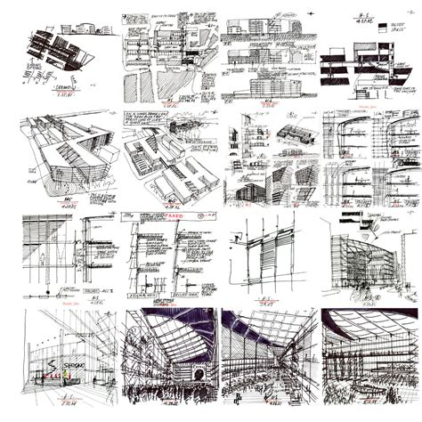 B Arch Sketches by Gallery Of Flashback Merck Sereno Headquarters Murphy