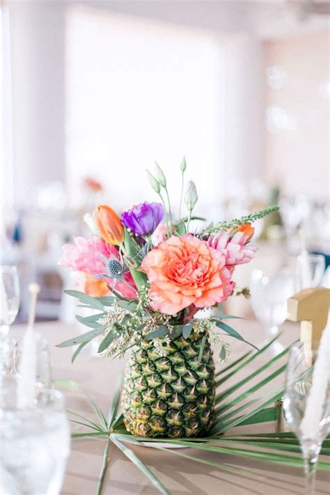 pretty as a pineapple wedding floral centerpieces