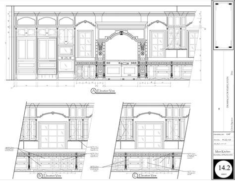 Kitchen Floor Plan Autocad Kitchen Floor Plan And Elevations Autocad 3d Cad