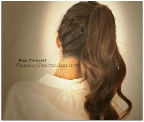 back to school ponytail hairstyles for medium long hair hair tutorial braided messy bun ponytail back to