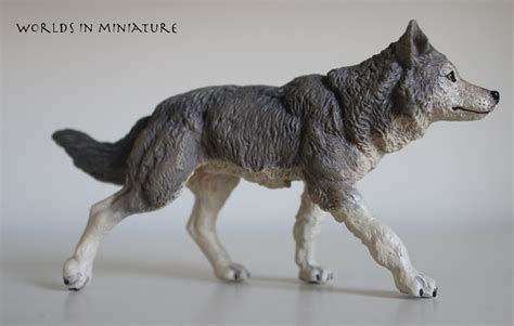 Papo Grey Wolf the she wolf by worlds in miniature on deviantart