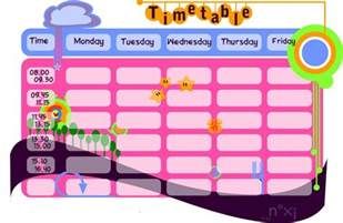 Timetable School Template by Great School Timetable Templates 187 Saxoprint Uk
