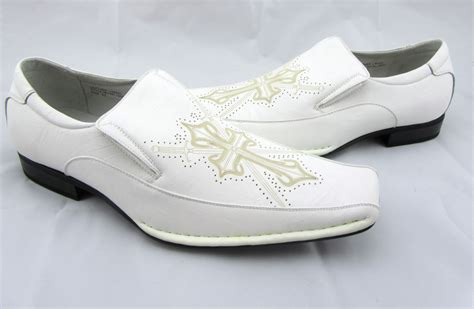 mens white dress loafers delli aldo white leather lining cross loafers dress shoes