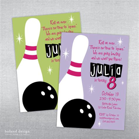 bowling birthday invitations free templates sle bowling invitation template 9 free documents