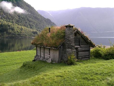 scandinavian cabin solitude