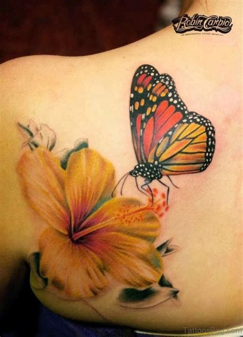 tattoo butterfly yellow 55 beautiful butterfly and flower shoulder tattoos