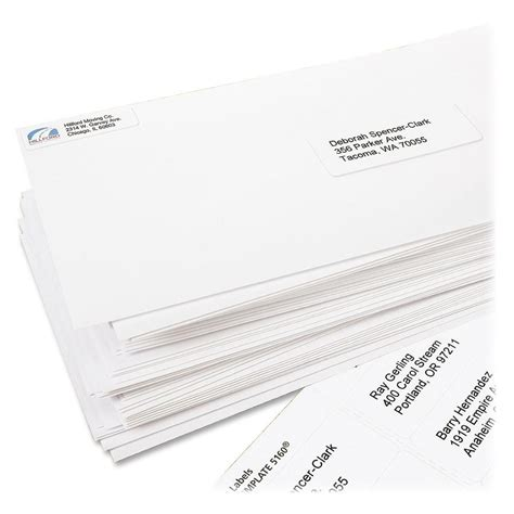 Avery Easy Peel Labels Template 5160 by Avery Laser Labels Mailing 3000 Bx White Ld Products
