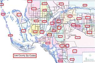 fort myers florida zip code map fort myers map with zip codes images