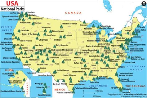 national map national parks usa map laminatoff