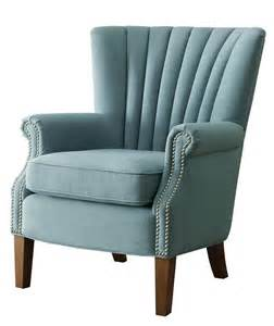 natalie accent chair blue