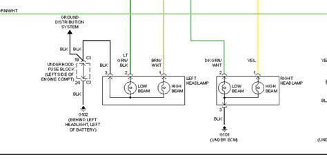 2008 silverado headlight wiring diagram 2001 dodge dakota