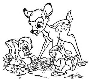 bambi colouring pages coloring