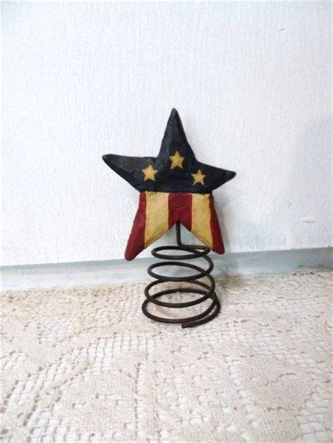 vintage stars stripes tree topper usa americana