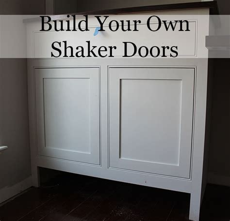 How To Build Shaker Cabinet Doors With A Router Diy Build Kitchen Cabinet Doors