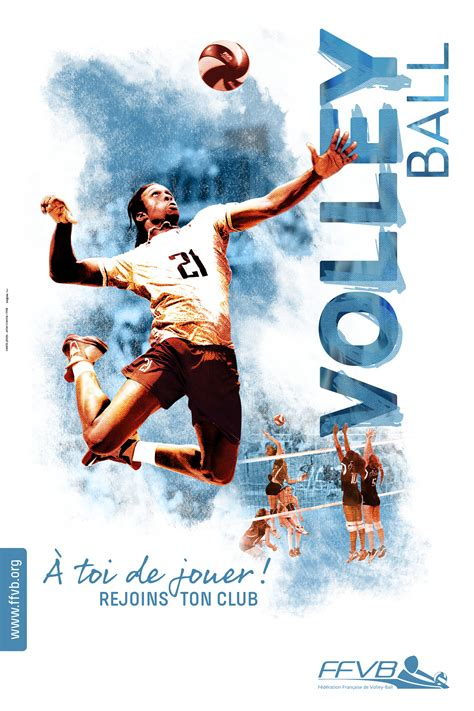 design volleyball poster supports de communication f 233 d 233 ration fran 231 aise de volley