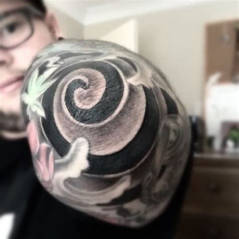 japanese elbow tattoo designs spiral best ideas gallery