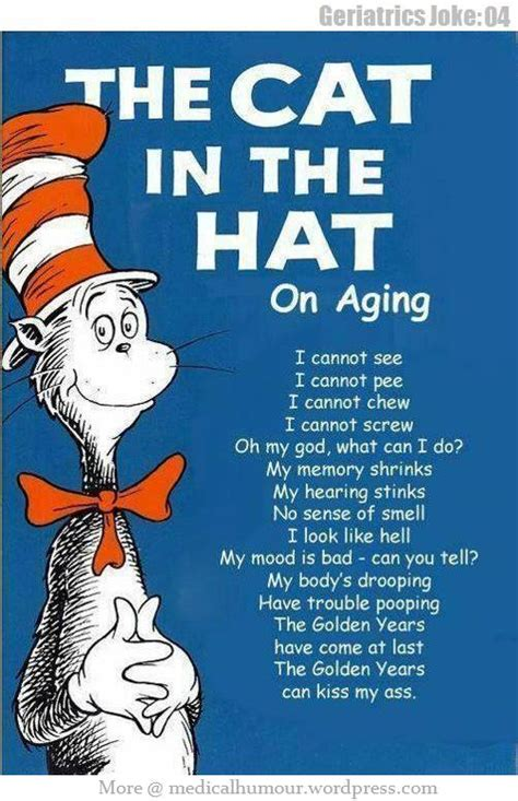 THE CAT IN THE HAT On Aging | Medical Humour Genetics Jokes