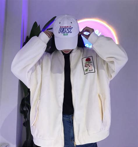 Harajuku Jaket G harajuku kawaii embroidered thickened baseball jacket 183 storeunic 183 store powered by