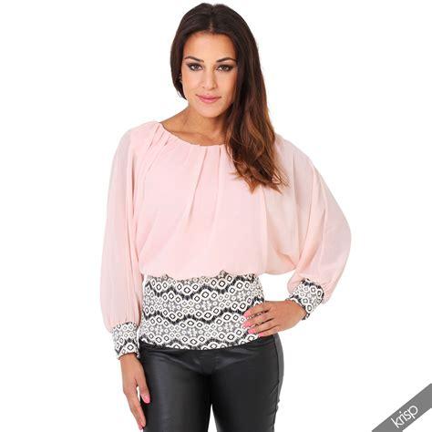 Blouse Batwing womens floral hem oversize shoulder pleated chiffon batwing blouse top ebay