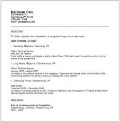 Cover Letter Journalism by Journalist Resume Exle Free Templates Collection