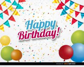 birthday celebration card vector free