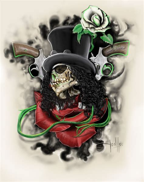 slash rose tattoo images for gt guns n roses slash saul hudson