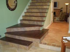 Wood On Stairs by Tile Wood Stairs Diy Projects Pinterest