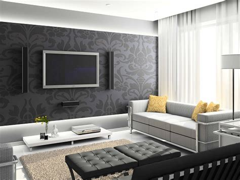 Living Room Wallpaper Ideas White Black by 15 Living Room Wallpaper Ideas Types And Styles Of