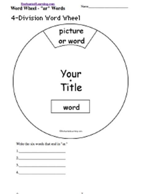 spinning wheel card template wheel graphic organizer printouts enchantedlearning